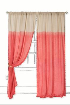 Perking Up a Room With Drop Cloth Curtains | BHG Style Spotters