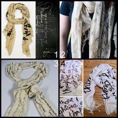 sharpie scarves