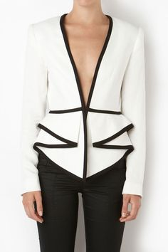TWO DIMENSIONS tailored jacket with peplum detail - Sass & Bide