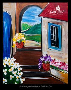 wine country, the paint bar paintings, paint help, countri paint, group paint