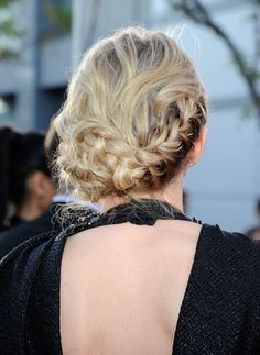 Jennifer Morrison's cool braided updo at the American Music Awards