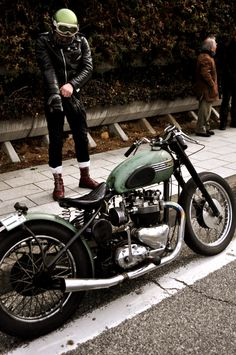 #Triumph #bobber http://BobberInspiration.com | Bobbers & Custom Motorcycles