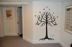 Lord of the Rings Tolkien Tree of Gondor wall decal idea