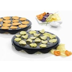 Mastrad A64501 Top Chips Maker, Set of 2 (Both Trays Interlock Allowing You To Make Twice As Much Healthy Potato Chips or Apple Chips At Once)