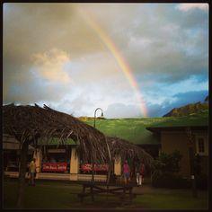 Rainbow over Hanalei.