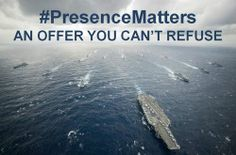#PresenceMatters An offer you can't refuse #AircraftCarrier #meme