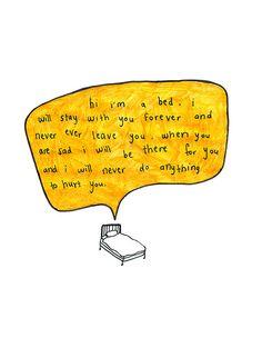 hi im a bed