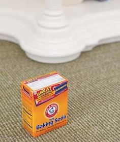 To naturally deodorize your carpet, cordon off the areas in need of TLC and sprinkle liberally with baking soda, then vacuum up a few hours later.