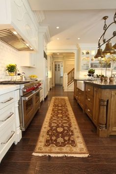 Sophisticated Casual Kitchen by W Design. Beautiful! Click thru to check out the details.