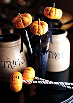 love the jars...one for tricks one for treats