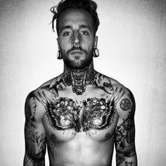Tattoo #tatts #ink #tattoo #sexy #stretchedlobes #piercing #bodymodificattion #inkedguys #plugs #bodycandy #eyecandy www.bodycandy.com