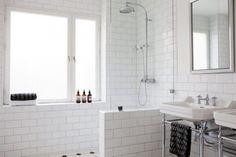 basement bathroom, bathroom interior, window, shower doors, bathroom designs, white bathrooms, bathroom shower, master baths, subway tiles