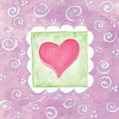 Art 4 Kids Spring Heart III Wall Art - 21467