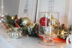 Learn how to decorate your mantel with Martha Stewart Living Christmas ornaments.