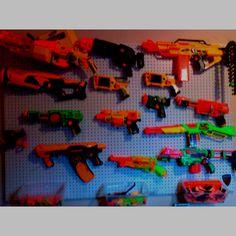 Nerf gun storage. I must have it!!