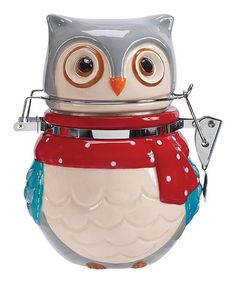 Snowy Owl Hinged Jar by Boston Warehouse