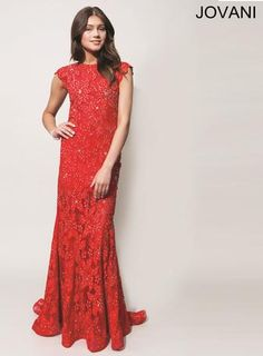 Jovani Long Lace Pageant Gown style 90676