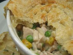 Chicken pot pie - in your slow cooker!  Just needs to finish baking in the oven to get the crust.  The recipe has one weird thing, it says you only have to cook frozen peas and corn for 10 minutes-think I would just add in the beginning so it could cook while I'm at work.