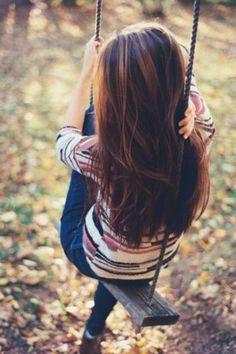 hair colors, chocolate brown, long hair, hairstyl, swing, highlight, brown hair, fall hair, caramel