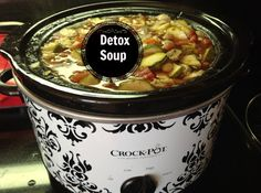Detox soup I lost 4 pounds in 4 days and was never hungry. Healthy soup with lentils and beans, Gluten Free A-Z Blog: Vegetable Soups, Healthy Soup, Crock Pots, Detox Soups, Gluten Free Soup, Veggie Soups, Cleaning Eating, Free A Z, A Z Blog