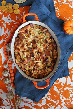 Challah Apple Stuffing | 25 Delicious Stuffing Recipes For Thanksgiving