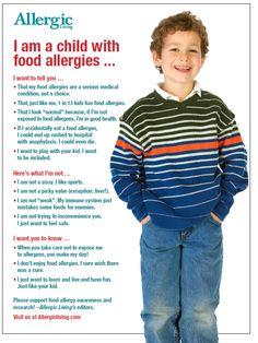 I am a child with food allergies... #food #allergy #allergies #HOPE