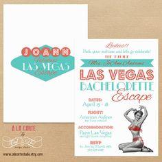 Las Vegas Escape Bachelorette Party Invitation by alacartestudio. , via Etsy.