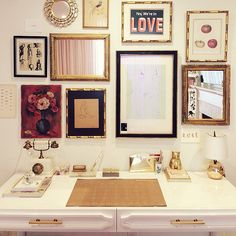 Lauren Conrad's gold-accented office