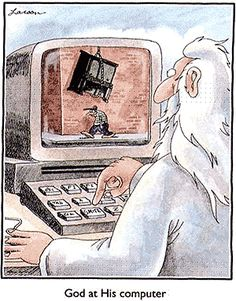 the far side cartoons /photos for sharing | the god of the old testament has a bad reputation
