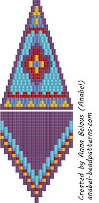 The scheme of earrings - mosaic weaving