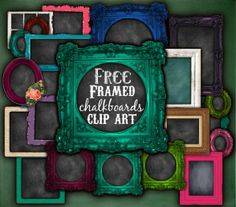 Free Framed Chalkboards Clip Art