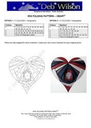 View Heart Iris Folding pattern Details