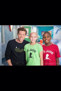 Shaun White with two children from St. Jude! Love!