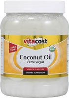 """Vitacost Extra Virgin Certified Organic Coconut Oil, Recommended by Ellen L. -- Business Development Manager. She said """"I use this for cooking, make-up remover, foot healing cream, cuticle oil, and random scoops here and there for overall wellness."""""""