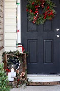 christma decor, craft idea, porch decor, christma idea, outdoor decor