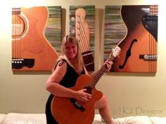 Kristy Jenney's Amazing Guitar Quilt Panels