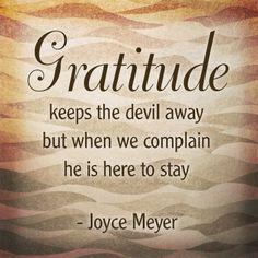 Gratitude. Having a thankful spirit!