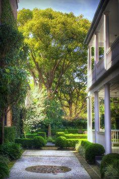 home and gardens in Charleston, South Carolina