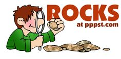 Rock and fossils lesson material.