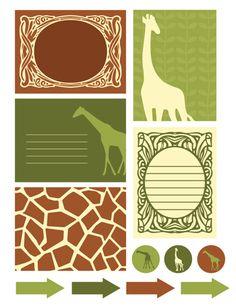 FREE giraffe printable ::