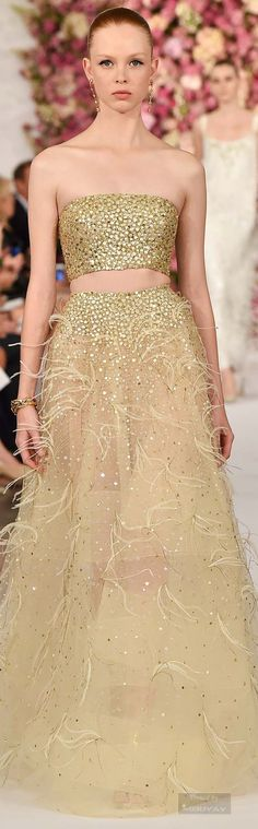 Glamour Gown..Oscar de la Renta.Spring 2015.