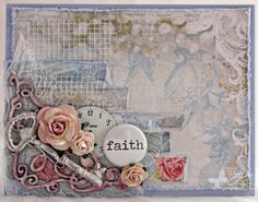 Card by Patter Cross using Blue Fern Studios papers and chipboard.