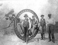 Alfred D'Harlingue, 1917  #Vintage #Monobike #Steampunk
