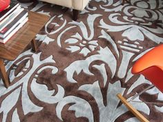 How to Make a Large Area Rug from Several Small Ones -- no sewing!