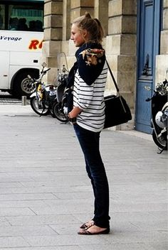 stripes & scarf