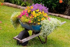Something I am going to do one of these days! great idea when I retire my rusty orange wheel barrow