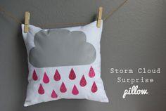 pillow, storm clouds, cricut iron