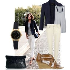 Blue & Cream - Get the look, created by saratoeppler on Polyvore