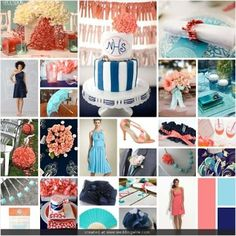 turquoise and coral wedding - Google Search
