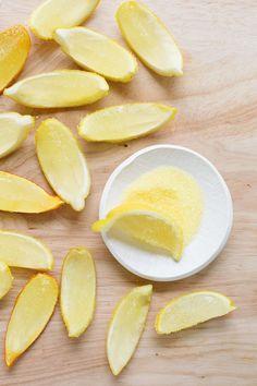 Lemon Drop Jell-O shots